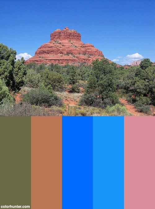 Sedona Color Scheme Exterior Colors Palette Color