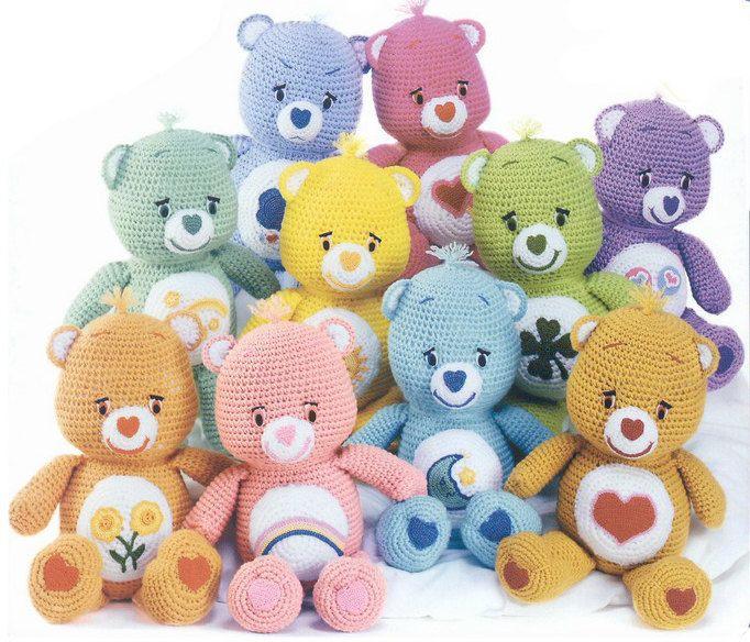 Care Bear amigurumi crochet doll pattern by room65 on Etsy https://www.etsy.com/listing/184850031/care-bear-amigurumi-crochet-doll-pattern
