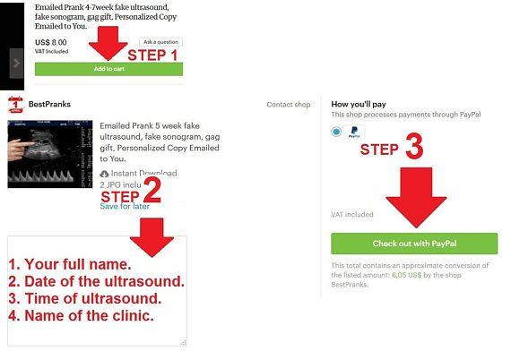 Prank 10-12 week fake ultrasound fake sonogram fake