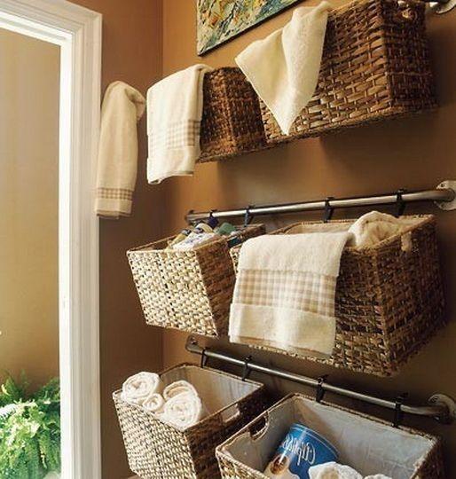 Best Bathrooms Images On Pinterest Room Bathroom Ideas And - Bathroom basket ideas for small bathroom ideas