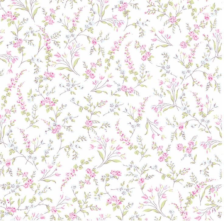 Treasures by Shabby Chic Quilting Fabric- Meadow Print…