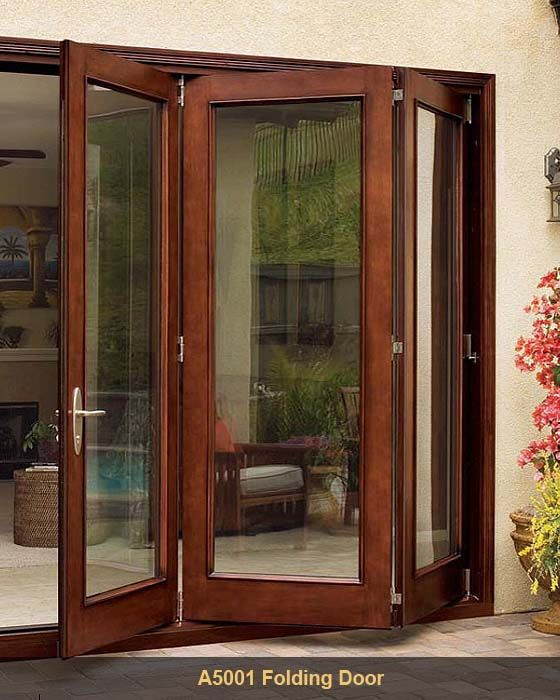 Door deck under deck enclosure with access door for Patio doors folding sliding