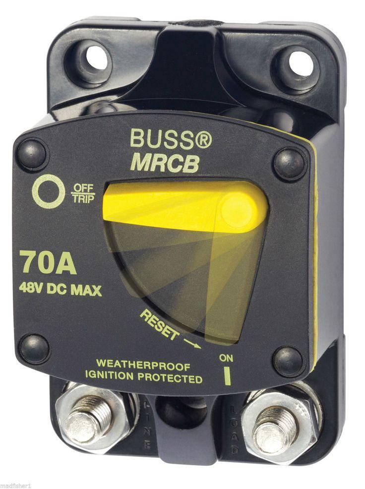 Blue Sea 7141 Cooper Bussmann® 70 Amp 70A Circuit Breaker Surface Mount Marine