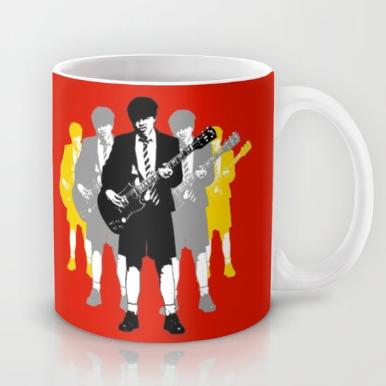 Sold!!! ...Thanks to the buyer of this pop-art style 'Angus Young' Mug design from the Society6 webstore. #acdc #angus #guitars #rock #heavymetal #bands #mugs #mugshot