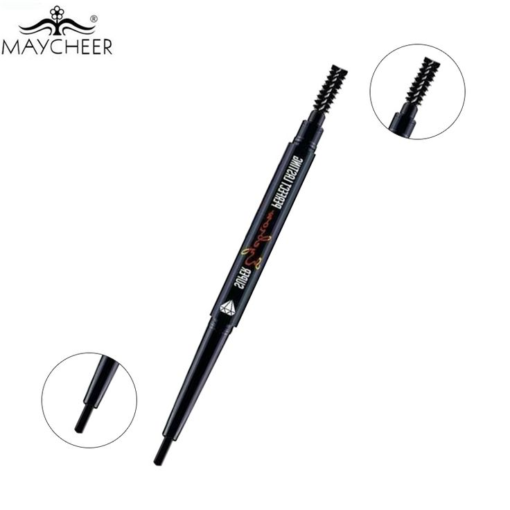HOT MAYCHEER Makeup Double-end Eyebrow Pencil with Brush Automatic Eye Brows Pen Make Up Waterproof Longlasting Eyebrow Enhancer