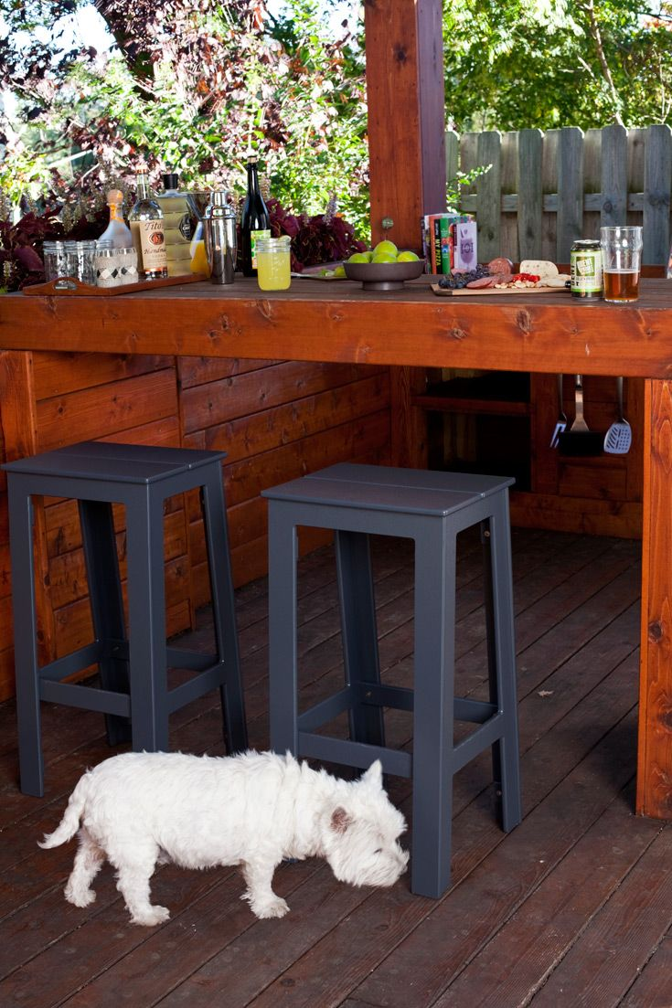Loll Designs Cliff Outdoor Bar Stools Available To Order At LAKEHOUSE HOME STORE KELOWNA BC