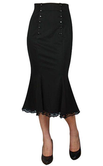 Chic Star Retro Double Button Skirt (UK16)