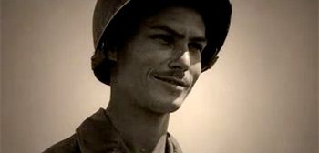 Desmond Doss... WWII hero. Conscientious Objector who received the Congressional Medal of Honor.