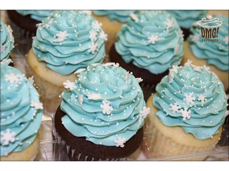 Disney's Frozen inspired cupcakes! Visit Omg! Cupcakes at www.facebook.com/OmgCupcakesGP