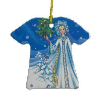 Vintage Christmas, Snow maiden Christmas Ornaments
