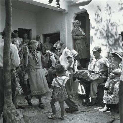 Mykonos 1955. At a baptismal festival. Robert McCabe