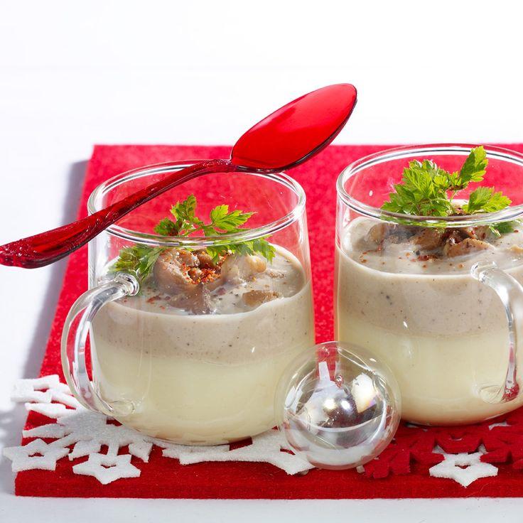 Crème de topinambour aux châtaignes
