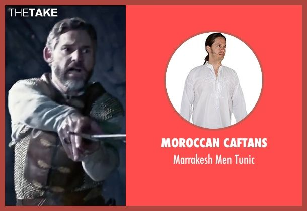 Moroccan Caftans white tunic from King Arthur: Legend of the Sword seen with Eric Bana ...
