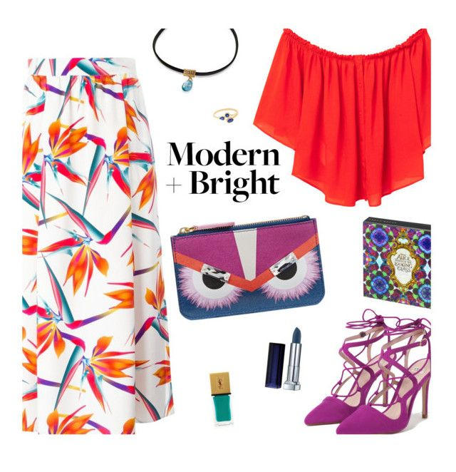 modern + bright by uncharged-batteries on Polyvore featuring polyvore fashion style MANGO Fendi Zara Maybelline Yves Saint Laurent modern clothing