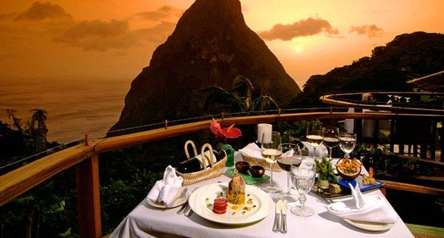 Ladera in St. Lucia, Caribbean - destination weddings in the #Caribbean @luxdestweds