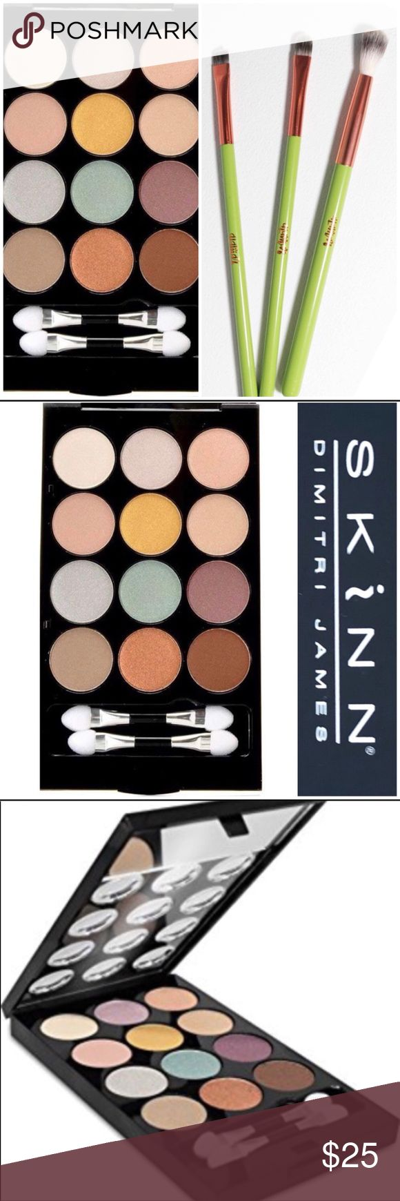 Eyeshadows and Brush Set bundle SKINN Luxe eyeshadows