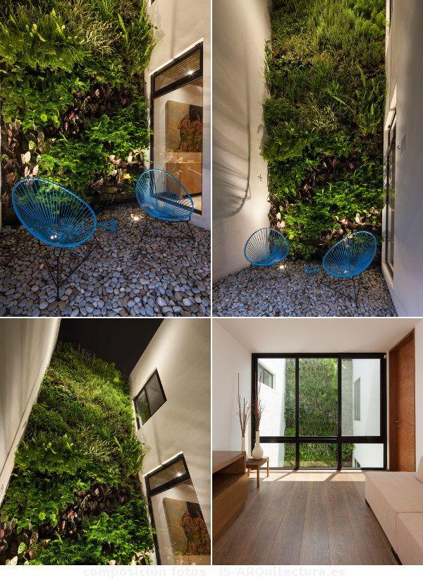 En el patio de la ming house monterrey m xico hay un for Jardines verticales mexico