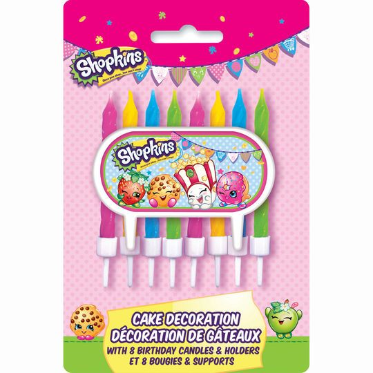 Shopkins Cake Topper and Birthday Candle Set