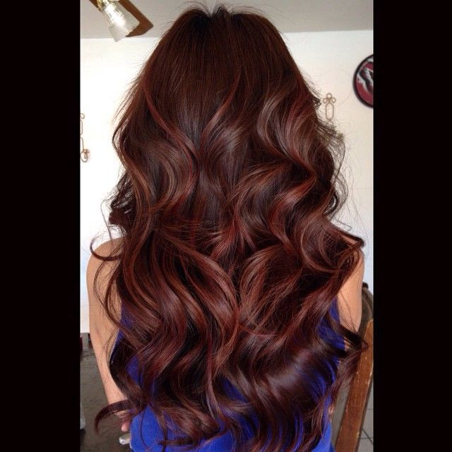 Loving this red balayage color I created using Wella Magma Lightener for an…