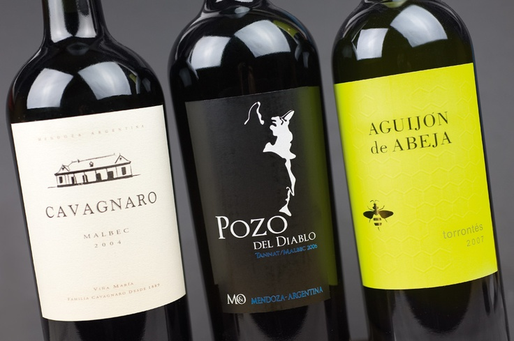 A very popular export: wine from argentina.