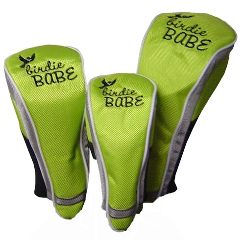 I found this at Pink Golf Tees! Birdie Babe Lime Green Club Cover Set