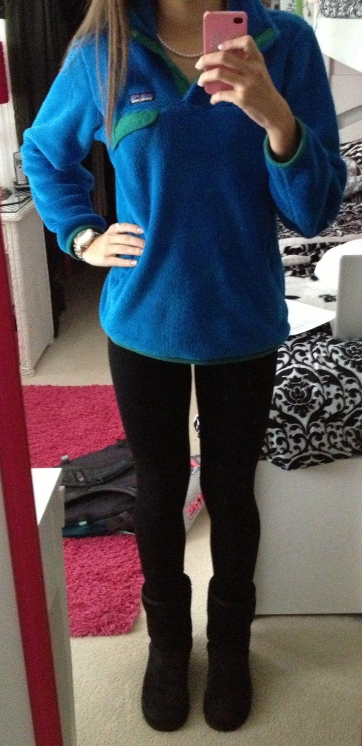 Literally my everyday attire. Patagonia + leggings + UGG ...