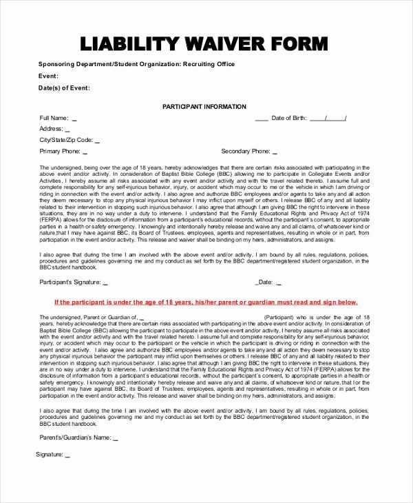 Best Of Insurance Waiver Form Template In 2020 Resume Template