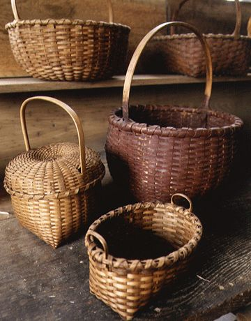 baskets-the more the merrier    Never to many Baskets  CountryTreasures1@verizon.net