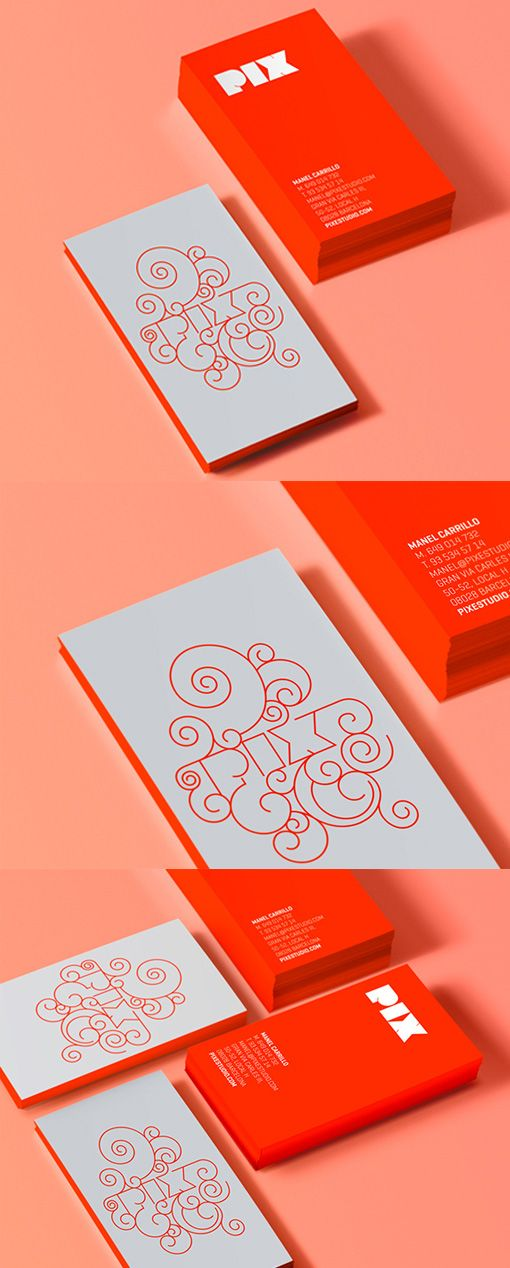 Dynamic Logo On A Red And White Edge Painted Business Card Design