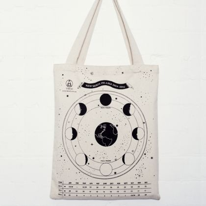 Moon Phase Bag Interactive TMOD bag that has the full moon chart on one side and the new moon chart on the other side for a calendar up until 2016