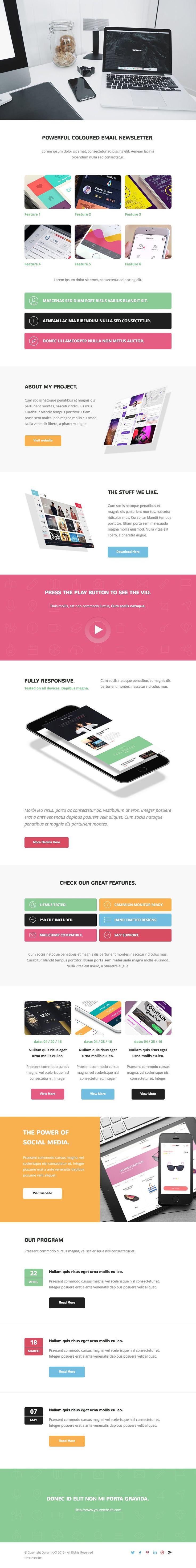 Gaudy + Online Template Builder PSD