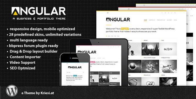 Премиум шаблон для WordPress Angular
