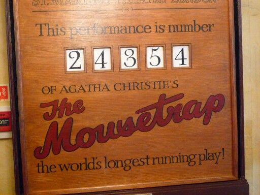The day I saw The Mousetrap.