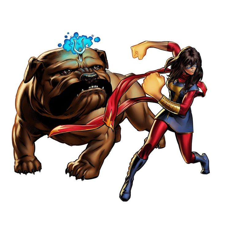 Marvel: Avengers Alliance: Ms. Marvel, Kamala Khan, & Lockjaw