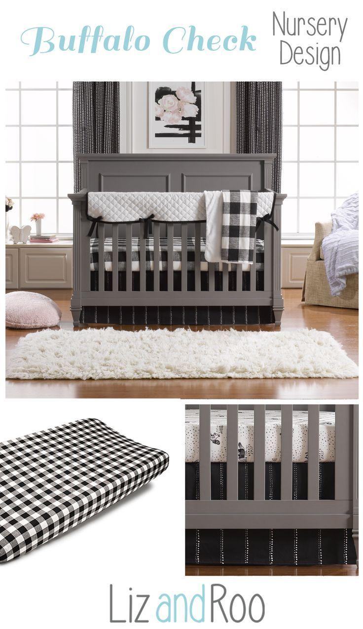 Modern Black And White Crib Bedding Set Liz And Roo White Crib