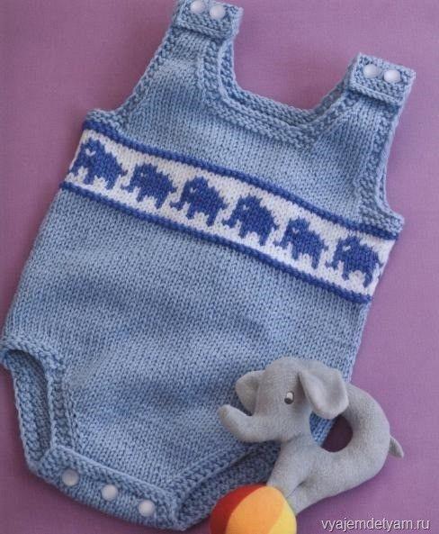 Вяжем комбинезон со слониками   Вяжем детям