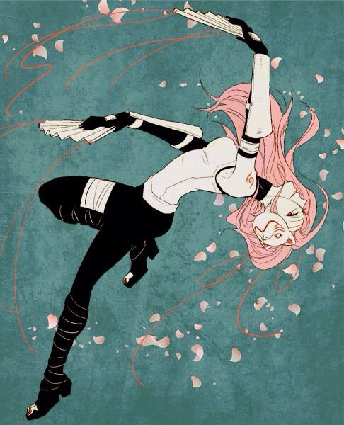 Anbu black ops sakura, is she this cool? Yeah she kinda is.