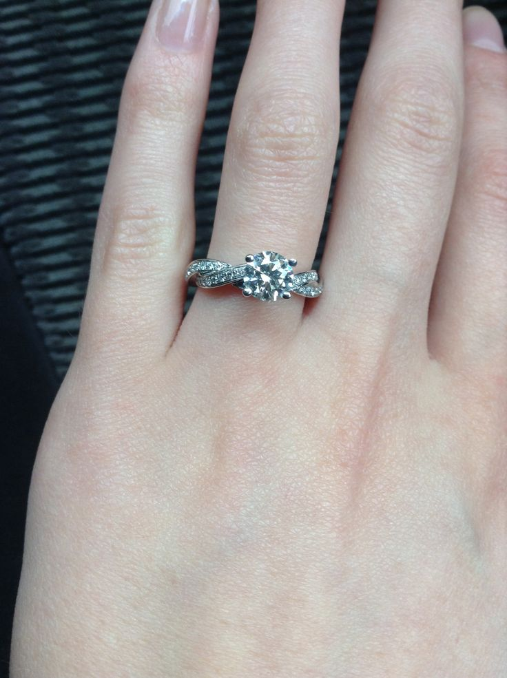 My beautiful engagement ring! #MichaelHill #EngagementRing