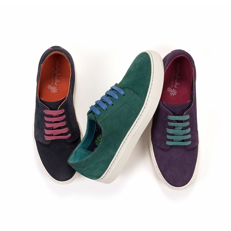 Our new suede lace up casual trainer is a Moshulu Must Have. Available in 3 versatile colours, including our new favourite, blackcurrant. Contrasting laces add the touch of Moshulu colour. Heel height 2.5cm