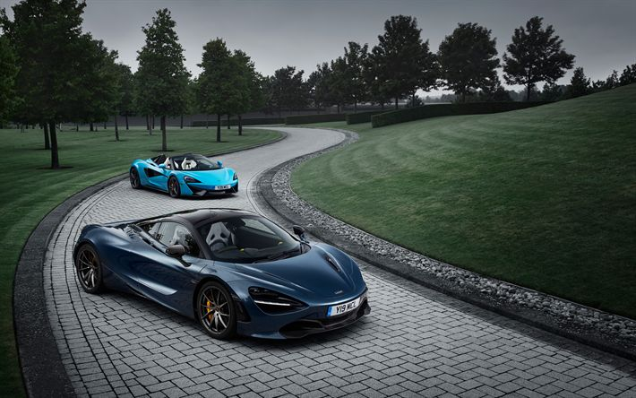 Hämta bilder McLaren 570S Spindel, McLaren 720S, 2017, Racing bilar, sportbilar, McLaren, Brittiska sportbilar