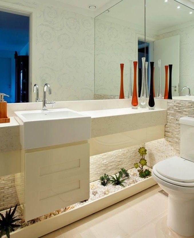 25+ melhores ideias sobre Banheiros Modernos E Baratos no Pinterest  Azulejo -> Banheiro Moderno Marron