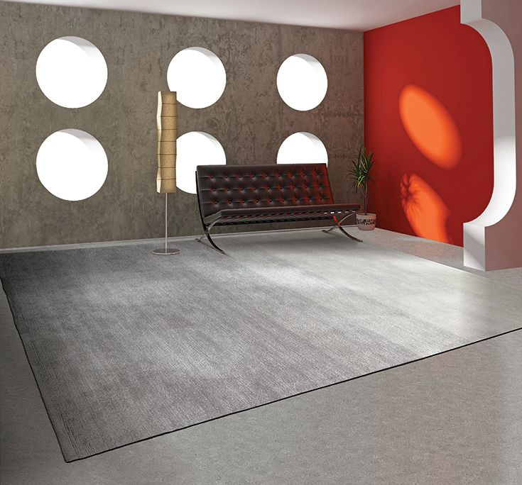 Elevate Rug Collection Style Progression Photographed In Pewter Graphite Interiordesign Commercialinterior