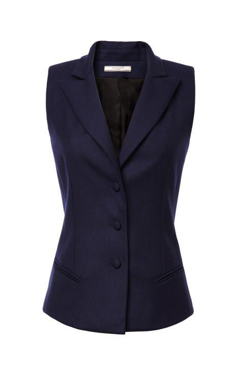 Shop Gabardine Suiting Vest by Bouchra Jarrar - Moda Operandi