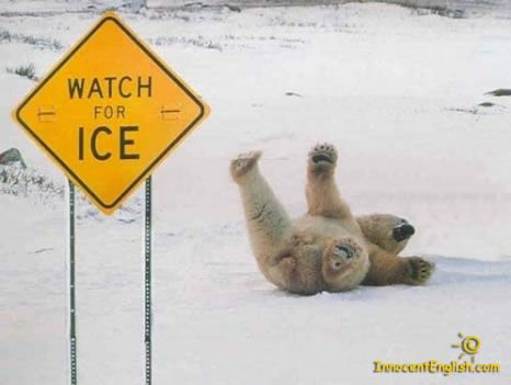 watch for ice... nahh dip sherlock