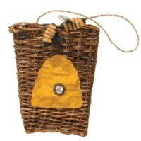 Bee hive basket by pearsons simply primitive bee hive basket 5 wide x 7 tall priced - Wicker beehive basket ...