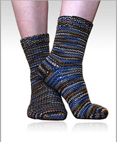 Knitting Patterns For Beginners Socks : Ravelry: Beginner Worsted-Weight Socks for Magic Loop, Toe-Up or Top-Down pat...
