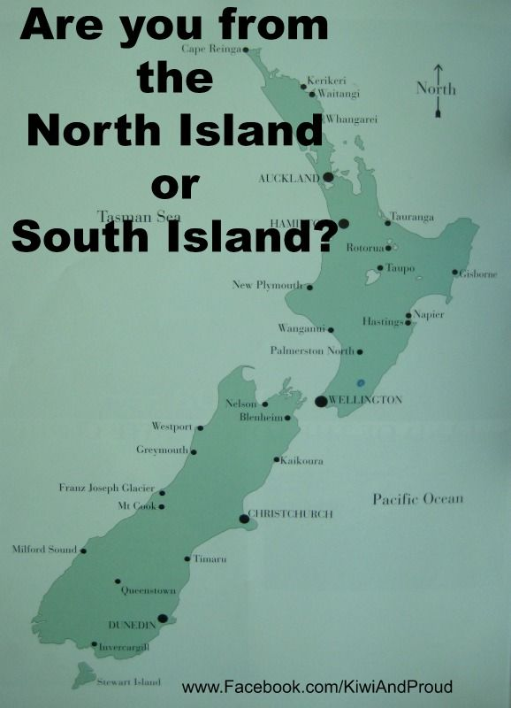 Are you from the North Island or South Island?
