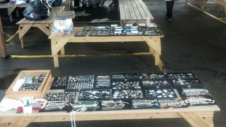 Overview of our two tables at Columbus Farmers and Flea Market #NJ 2/28