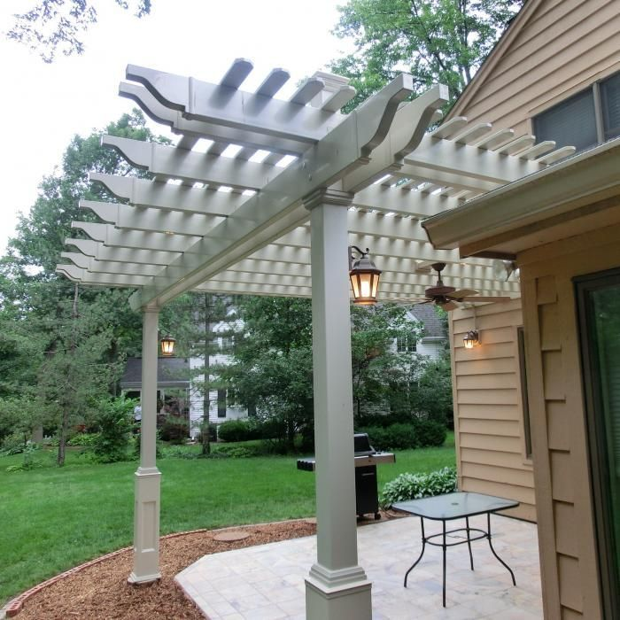 Attached Pergolas – Bradenton  (with 5″ x 5″ posts)