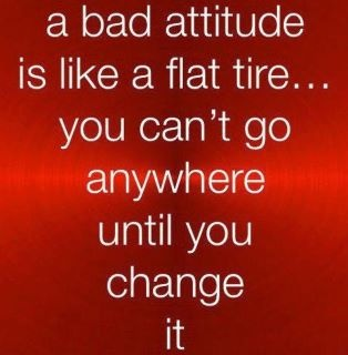 Change your bad behavior. . .